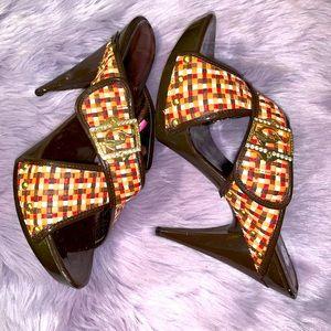 Baby Phat studded details platform heels size 11